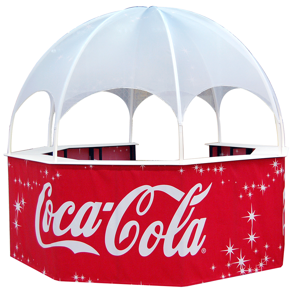 CocaCola Kiosk Dome Promotional event