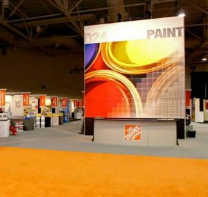 Custom trade show display wall fabric frame