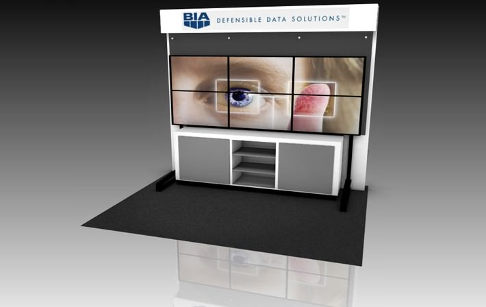 Eyekon Group Trade Show Multiple Video Monitor Wall Display