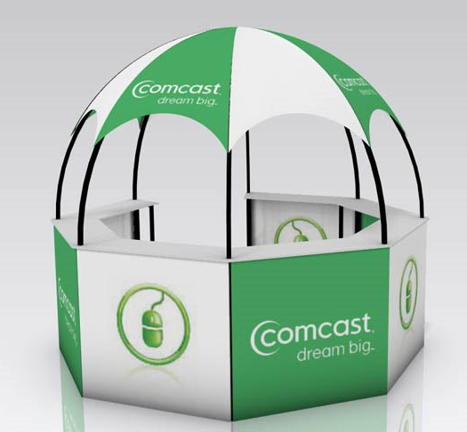 marketing event dome kiosk comcast