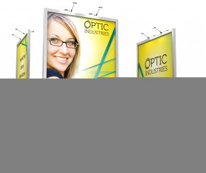 Custom portable trade show display designed by Eyekon Group