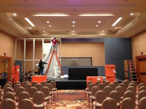 Installing a custom trade show display