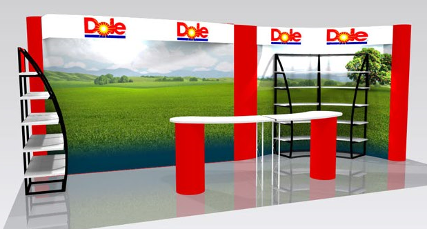functional shelf display for promotional event and marketing event